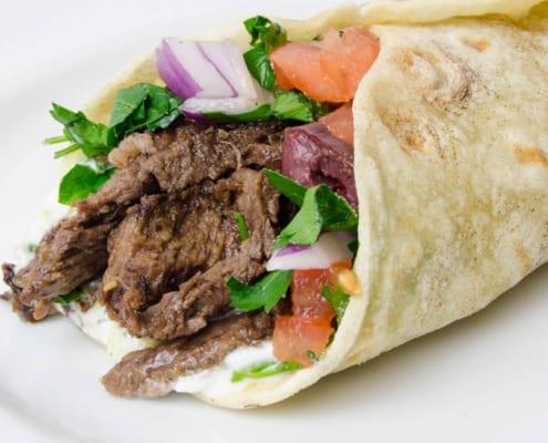Tyrkisk rullekebab food truck